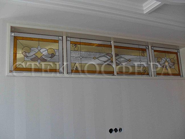 Оформление ниши, витраж в нишу, дизайн ниши в стене. Ниши из витражного стекла в технике «Тиффани»