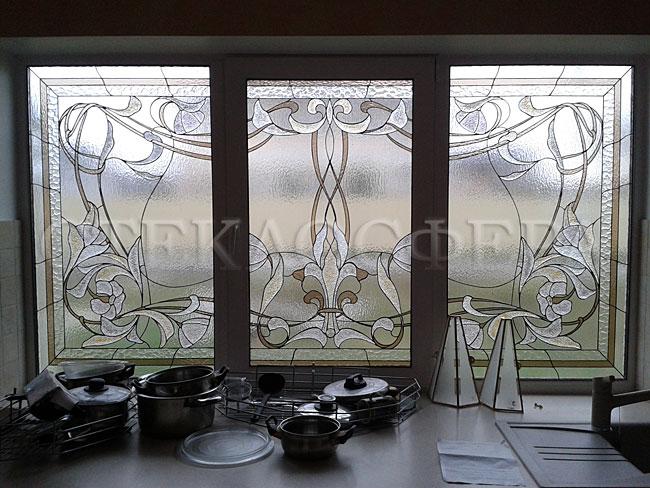 Витражи на окна. Купить витражные окна в Москве. Витражное окно с художественным стеклом